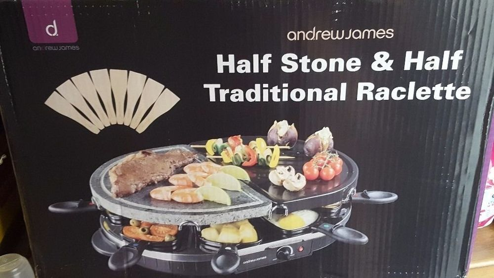 Andrew James Half Stone & Half Traditional Raclette (8 people) in london