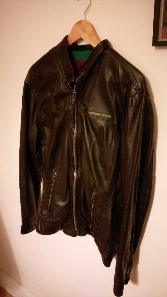 Brown leather jacket in london
