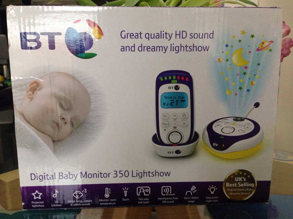 BT baby monitor 350 lightshow in london