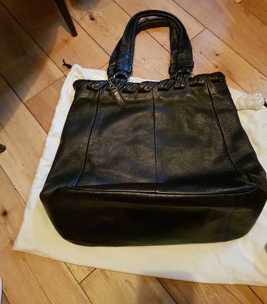 COLE HAAN black leather bag in london