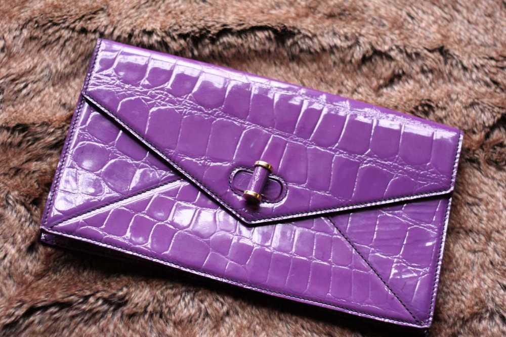GENUINE Alexander Mcqueen Clutch Bag in purple- 100% Authentic in london
