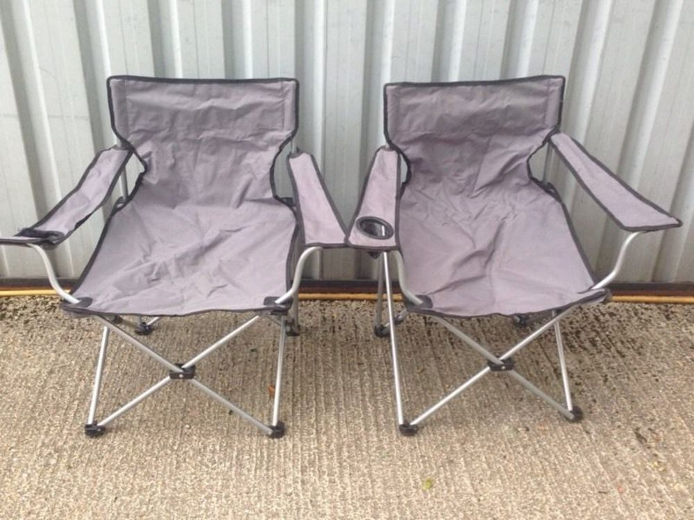 Grey camping chairs x2 in london