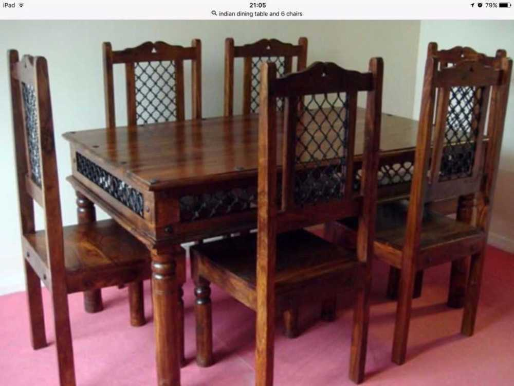 Superior Rent Indian Dinner Table 6 Chairs Fat Lama