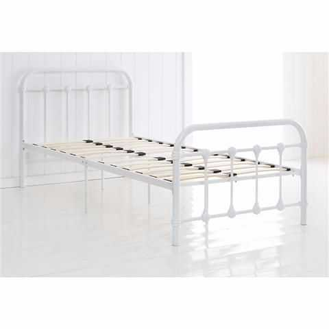 Single white bed frame in london