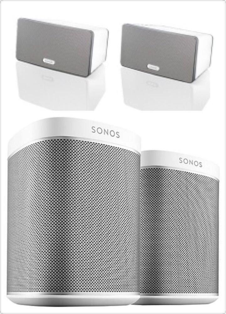 Sonos 2x Play 1 + 3x Play 3 Speakers in london