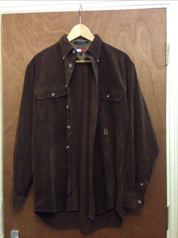 Tommy Hilfiger Brown corduroy shirt M in london