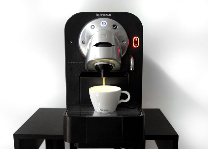 rent nespresso professional coffee machine cs100 capsule fat lama. Black Bedroom Furniture Sets. Home Design Ideas